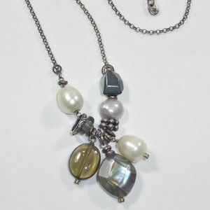 Silpada Pearl Shell Sterling Cha Cha Necklace